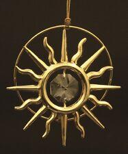 SWAROVSKI CRYSTAL ELEMENT STUDDED SUN SHAPE ORNAMENT SUN CATCHER 24K GOLD PLATED