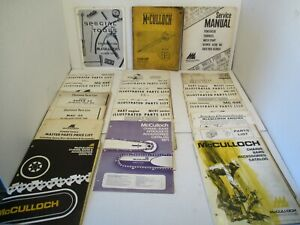 22 - McCulloch Chain Saw Parts Manual Chains Bars Accessories Kart Engine Gas L2