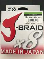 DAIWA J-BRAID X8 FISHING LINE 165 YARDS (150 M) Chartreuse Color 15lb