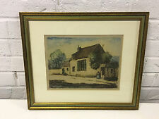 Vtg Antique Etching Print After Jean Francois Millet Possibly House at Gruchy