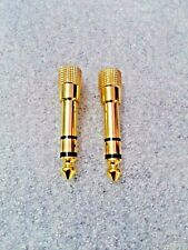 """Stereo 6.3mm (1/4"""") to 3.5mm (1/8"""") Jack Adapter PAIR"""