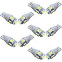 10x 5 SMD LED 501 T10 W5W PUSH WEDGE CAPLESS BRIGHT WHITE SIDE LIGHT BULBS CHZ