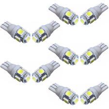 10x 5 SMD LED 501 T10 W5W PUSH WEDGE CAPLESS BRIGHT WHITE SIDE LIGHT BULBS CHZ