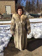 COYOTE FULL LENGTH WOMEN'S FUR COAT SIZE S-M