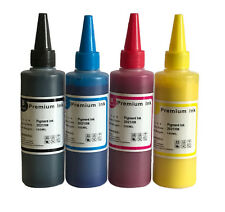 4 x 100ml Quality Printer Refill to replace Epson Brother HP ink Bottles Pigment
