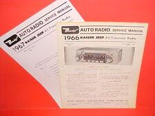 1966 1967 KAISER JEEP CJ JEEPSTER COMMANDO TRUCK BENDIX AM RADIO SERVICE MANUAL