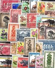 Congo Belge avant 1961 - Belgian Congo before 1961 100 timbres différents