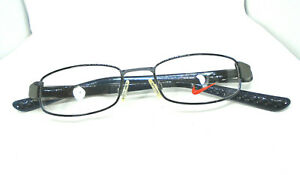 NIKE 8060 400 Blue/Grey 47-17-140 Eyeglasses Rectangular Rx Frames Men/Women