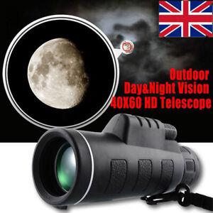 40X60 Super High Power HD Night Vision Monocular Telescope Binoculars Portable