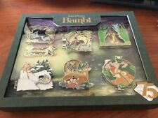 D23 Disney Bambi 75 Years Boxed Set 6 Pins with Walt Completer Le 500 PreSale