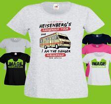 Dangerous Tour Ladies PRINTED T-SHIRT Breaking Bad Walter White Heisenberg RV