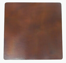 Mexican Square Copper Table Top Hand Hammered Brown Patina 24 Inches