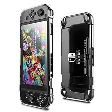For Nintendo Switch Case Crystal Clear Shockproof Protective & Temp. Glass