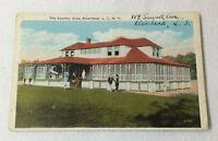 antique 1920's postcard ~ COUNTRY CLUB, RIVERHEAD, LONG ISLAND, NY