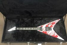 Nice! LTD Dan Jacobs Signature Blood Graphic Flying Guitar V DJ-600V