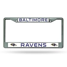 Baltimore Ravens NFL Chrome Metal Auto Car License Plate Frame