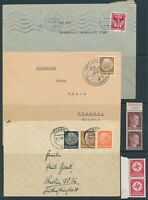 Lot Stamp Germany Bohemia WWII Hitler Hindenburg Official Dresden Cover Faults