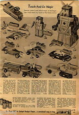 1956 ADVERTISEMENT Robot Robert Walk  Remote Dump Truck MG Car Schoenhut Piano