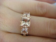 2 CARAT T.W. PEACH MORGANITE AND DIAMONDS LADIES RING 14K ROSE GOLD