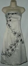 Jane Norman Stunning Strapless Satin  Party Dress  Size 8 uk