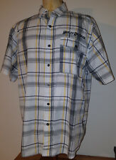 Harley Davidson Mens S/S Vented Button-Up Plaid Shirt XL