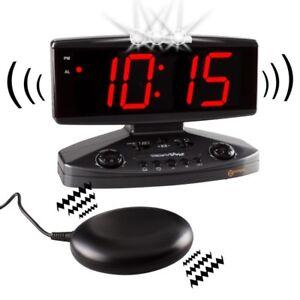 Vibrationswecker Geemarc Wake and Shake Vibrationskissen u. Blitzlicht , Netz