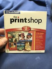 BRODERBUND THE PRINT SHOP  -PRE OWNED -cd's Great Condition