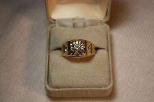 MEN'S 1 CARAT DIAMOND RING 10.30 GRAMS 14 KARAT YELLOW GOLD SIZE 12 1/4