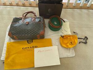 GOYARD AMBASSADE Briefcase MM Black Brown