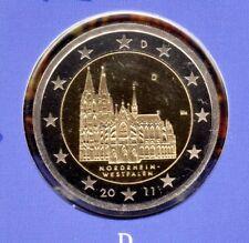 Deutschland  2 Euromünze Kölner Dom-D -2011 In PP Bankfrisch