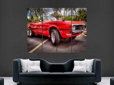 PONTIAC FIREBIRD MUSCLECAR RED  GIANT WALL POSTER ART PICTURE PRINT LARGE  HUGE