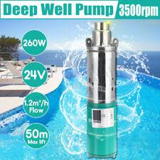 Pompe à eau Submersible de 260W 24V énergie solaire pompe inox pour puits profon