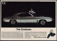 1969 PONTIAC FIREBIRD 400 w/ Quadra Jet V8 Engine Silver Sports Car VINTAGE AD