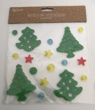 Christmas Window Gel Stickers - Christmas Trees