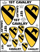 9 US Army 1ST Cav, Calvary Decal Stickers. Laminated for Durability