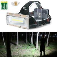 30W LED COB 18650 Headlamp Headlight Fishing Flashlight Rechargeable Torch E9S5