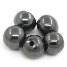 Lot 10 Perle Hematite Noir 8mm Magnetique Creation bijoux, bracelet, Collier