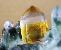 New Green Yellow Phantom Quartz Crystal Cluster Mineral Specimen Healing