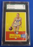 BOB BURROW #64 SGC Graded 7.5 (NM+) 1957 - 1958 Topps New York Knicks