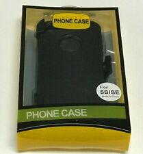 For Apple iPhone SE1 5s 5 Case  (Belt Clip Fits Otterbox DEFENDER SERIES)Black
