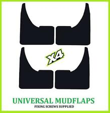 Universal Fiat Negro mudflaps Barro Solapas Set De 4