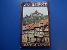 Brockhaus-Souvenir -Wernigerode   - DDR kleiner Bildband aus 1986  EA Hartcover