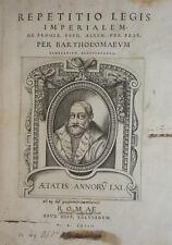 DIRITTO - CAMERARIO B. : REPETITIO LEGIS - ROMAE SALVIANUM 1564 Folio