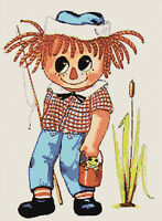 Vintage Retro Raggedy Andy Handmade DIGITAL Counted Cross-Stitch Pattern Chart