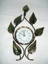 Reloj de pared de cuarzo hierro forjado HOJAS