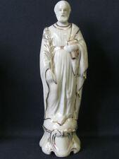 Ancienne STATUE SAINT JOSEPH porcelaine religieux h.24