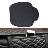 Black PU Leather Car Front Seat Cover Breathable Pad Interior Accessories