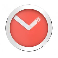 Istra London Stainless Steel Case Wall Clock - Red - 23cm diameter