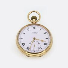 J.W Benson 1920s Pocket Watch 9ct Yellow Gold