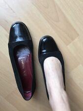 Prada Ballerinas 38,5 Wildleder Lack Schwarz Schuhe
